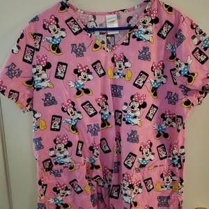 Women's Disney Minnie Mouse Scrub Top